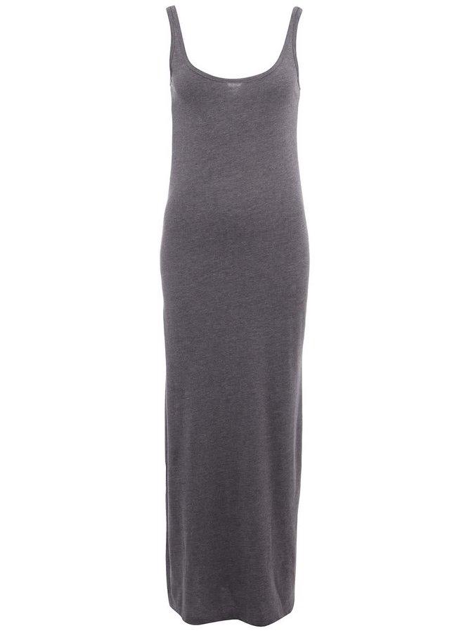 Sivé dlhé šaty Vero Moda Nanna