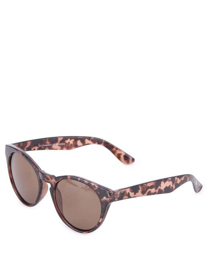 Hnedé maskáčové slnečné okuliare Vero Moda Buckthorn Brown