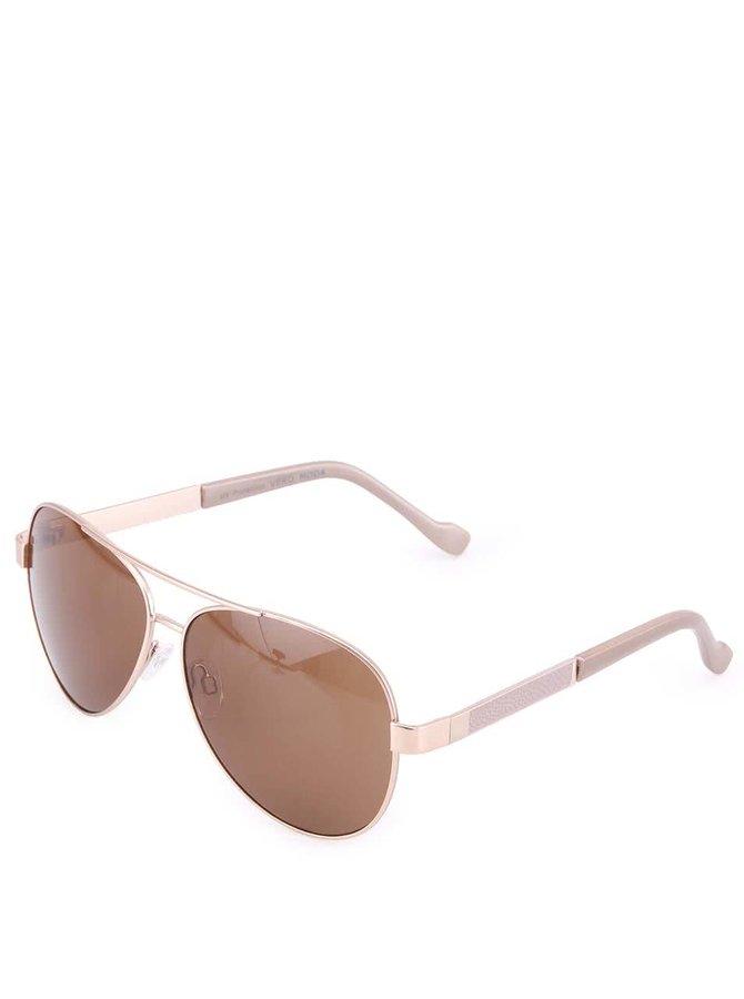 Hnedé slnečné okuliare Vero Moda Copper