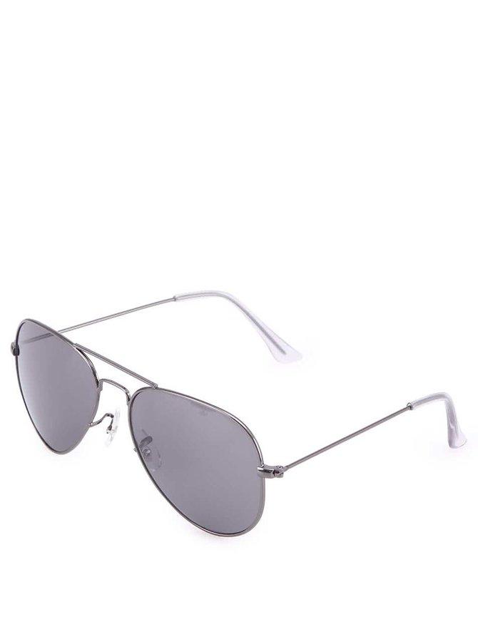 Sivé slnečné okuliare VERO MODA Silver