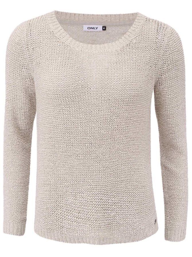 Béžový sveter ONLY Geena