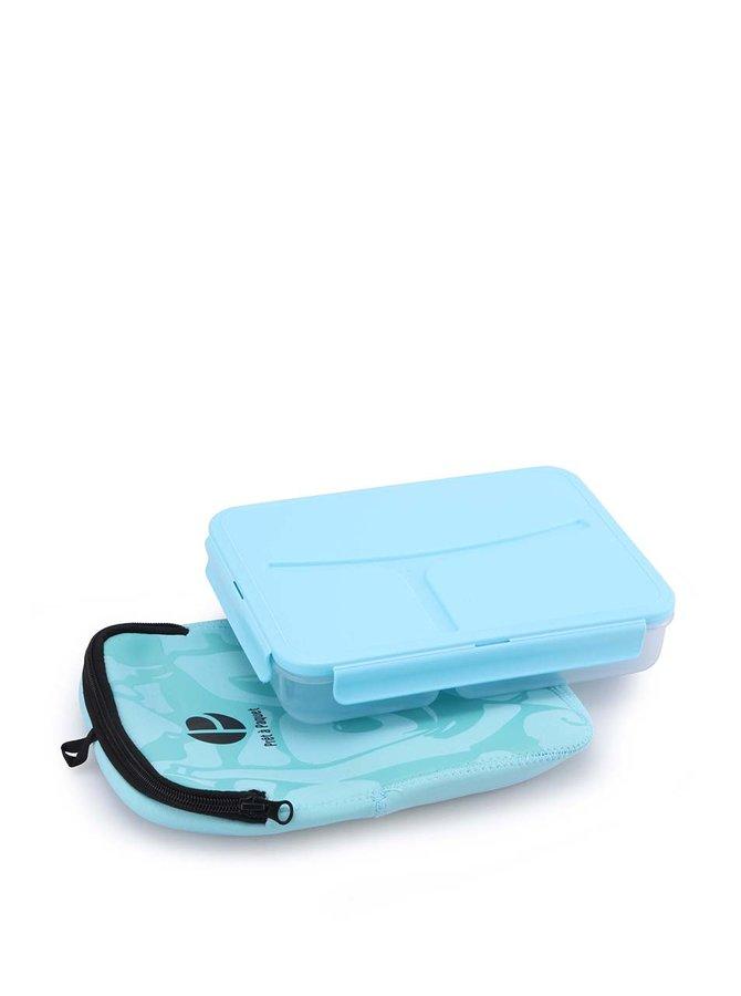 Světle modrý box na jídlo Prêt à Paquet