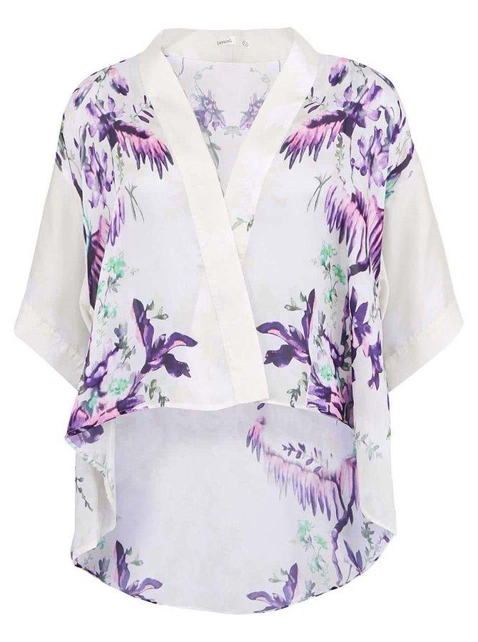 Bílé dámské kimono s květinovým potiskem Lavand
