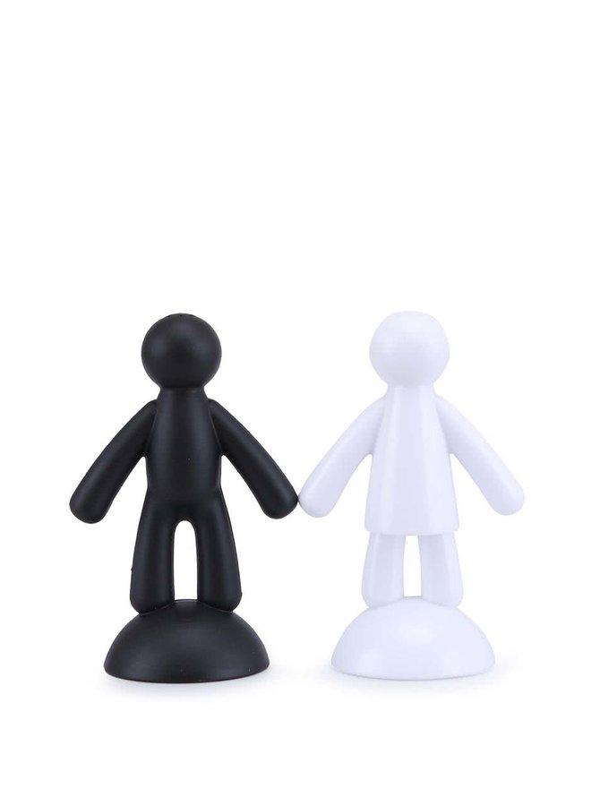 Čierno-biela soľnička a korenička Umbra Buddy