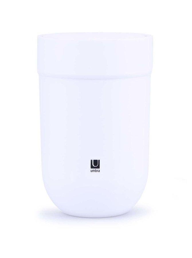 Bílý odpadkový koš s víkem Umbra Touch