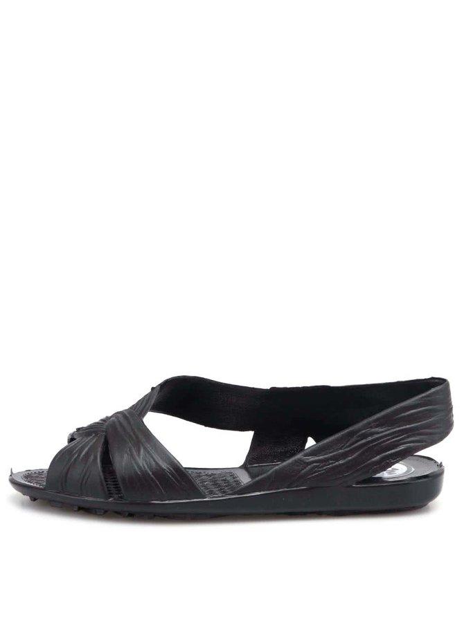 Sandale Fergie din plastic negru de la JuJu