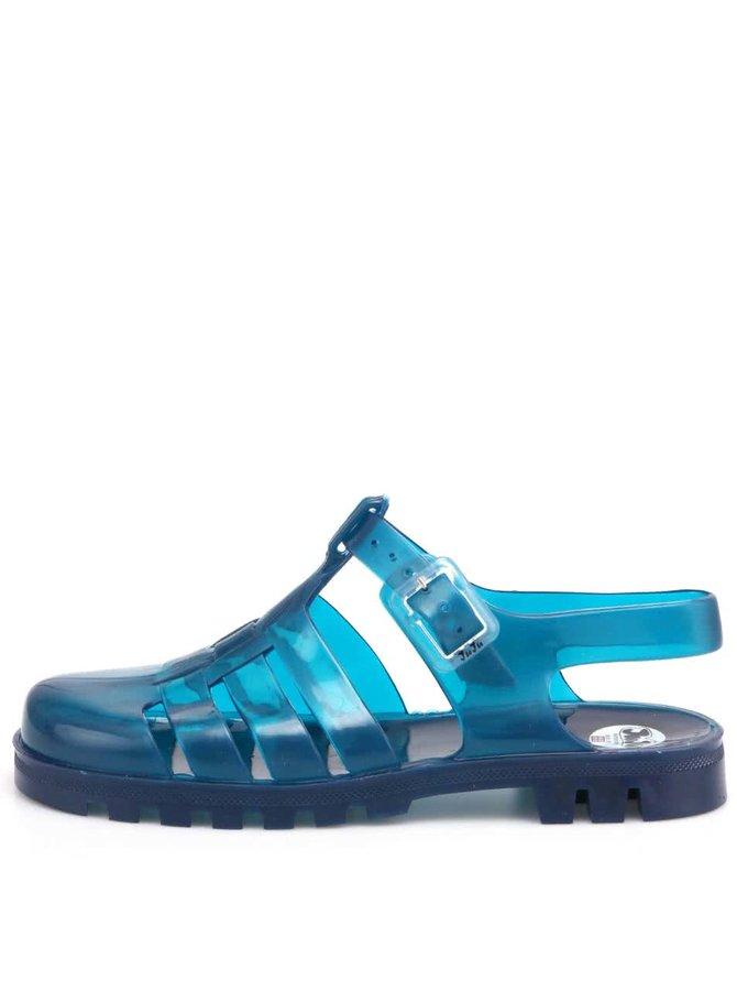 Tyrkysové transparentné plastové sandálky JuJu Maxi