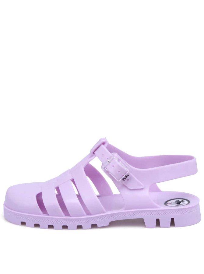 Fialové plastové sandálky JuJu Maxi
