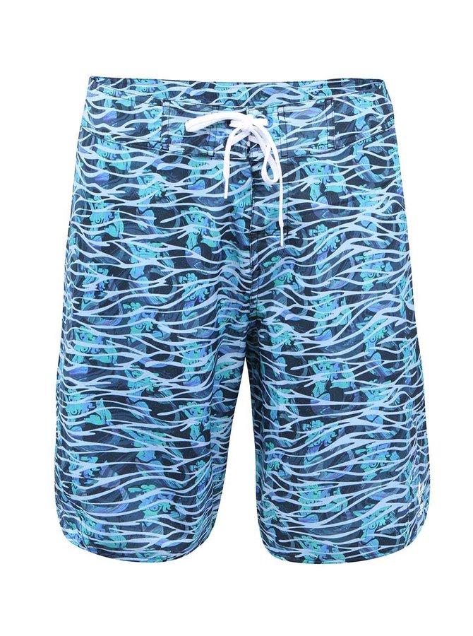 Modro-zelené pánské plavky adidas Originals Stretch