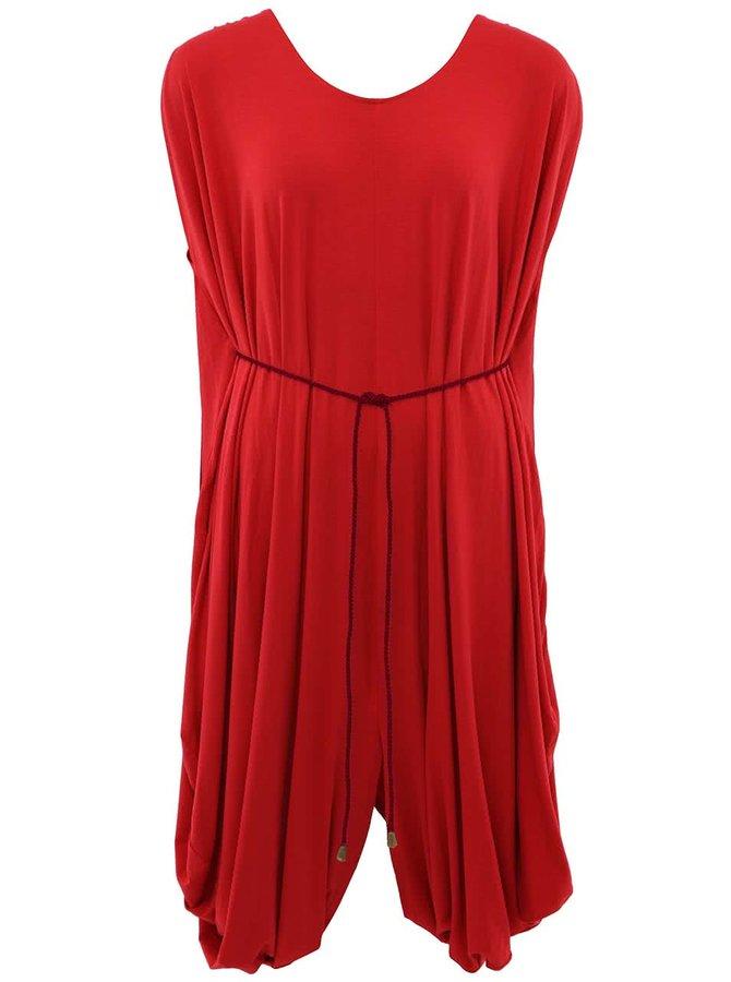 """""""Dobré"""" červené šaty s vínovou šnúrkou City Souls Odivi"""