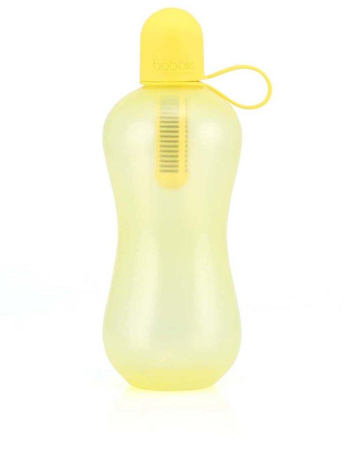 Žltá prenosná filtračná 0,7 l fľaša Bobble Šport