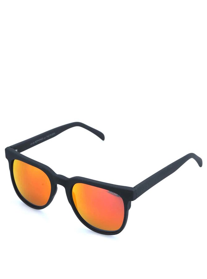 Čierne unisex slnečné okuliare s polarizačnými sklami Komono Riviera