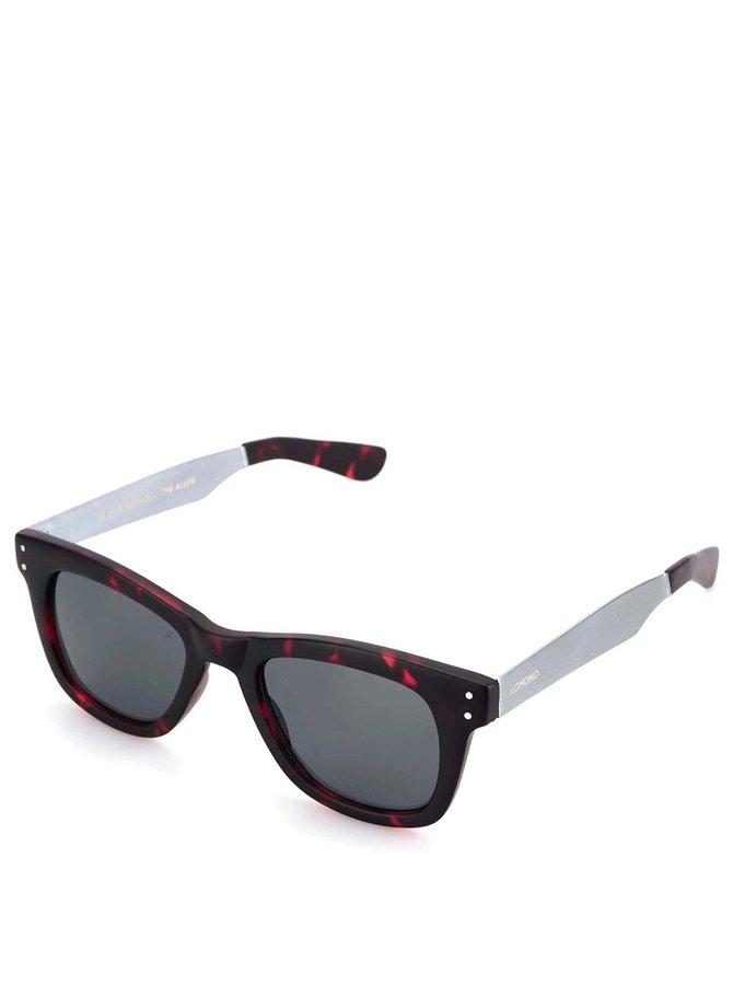 Ochelari de soare unisex, cu ramă burgund cu negru, model Allen de la Komono