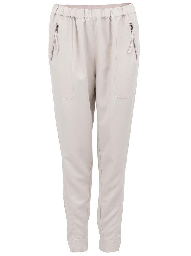 Béžové volnější kalhoty VERO MODA Indi