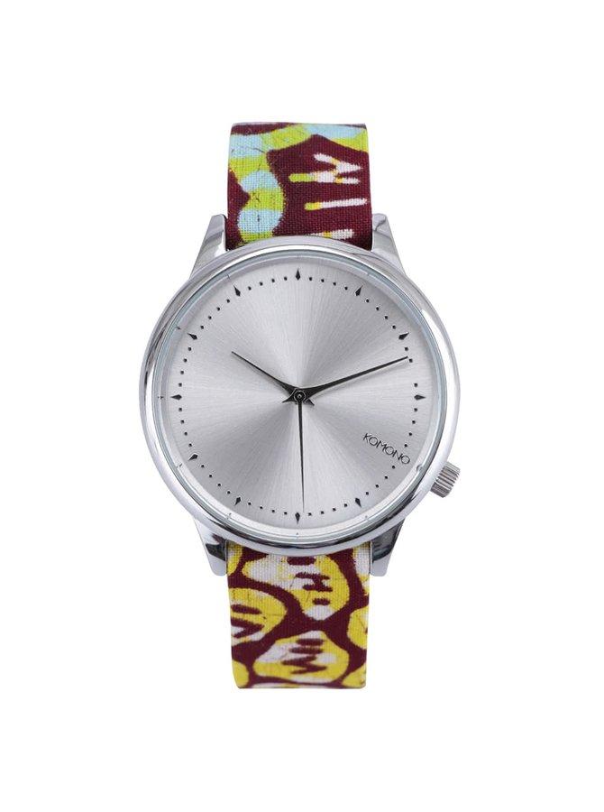 Ceas de damă colorat KOMONO Estelle Silver