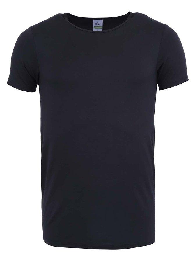 Čierne bambusové tričko pod košeľu Bambutik Slim