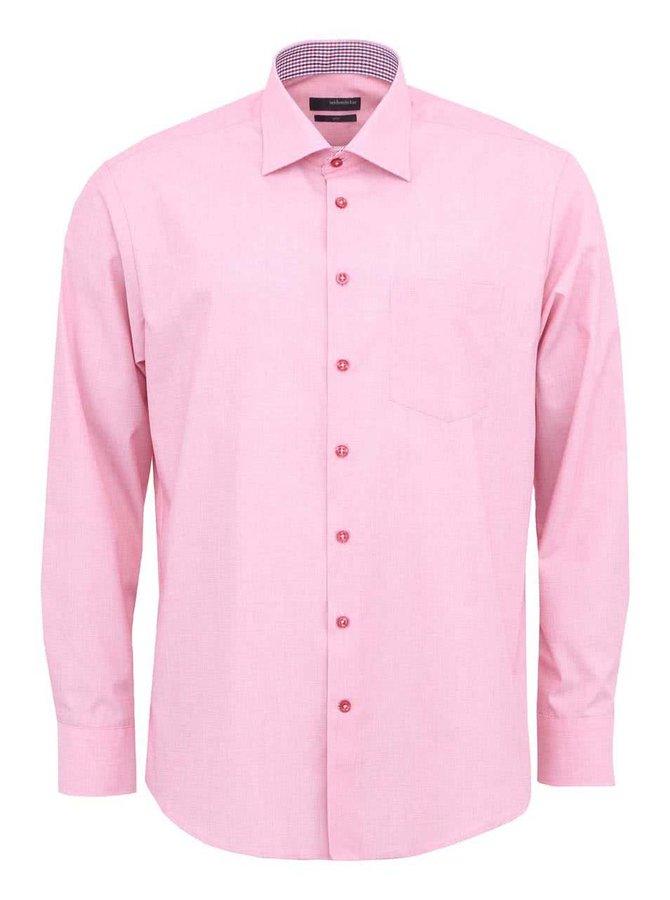 Růžová košile Seidensticker Kent Patch Regular Fit
