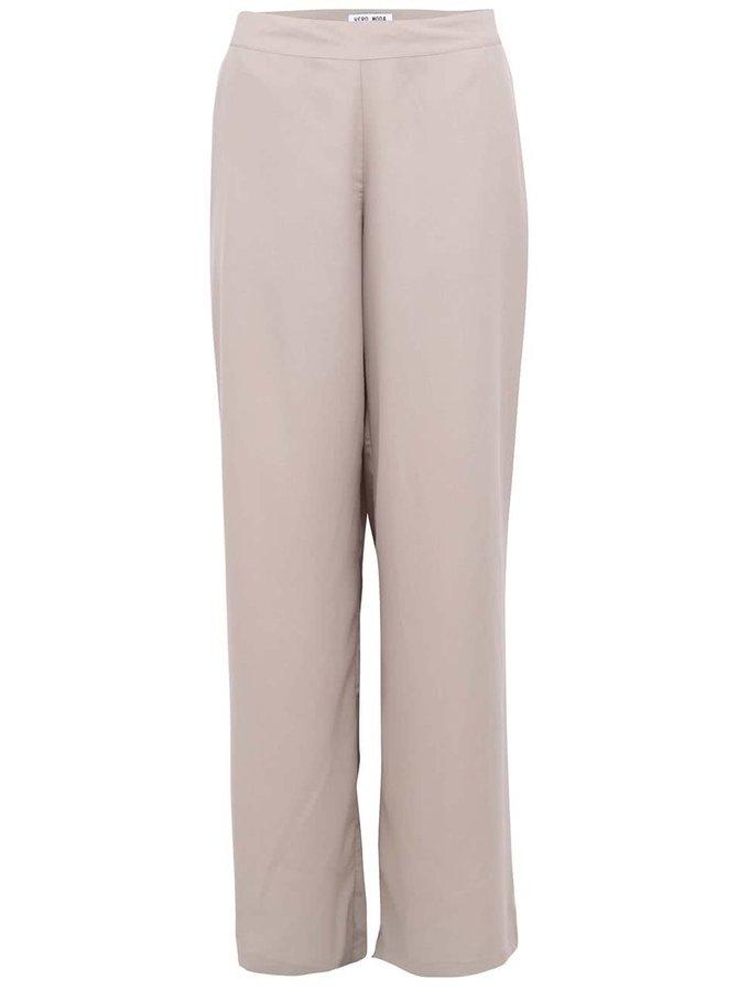 Béžové volnější kalhoty VERO MODA Just Easy