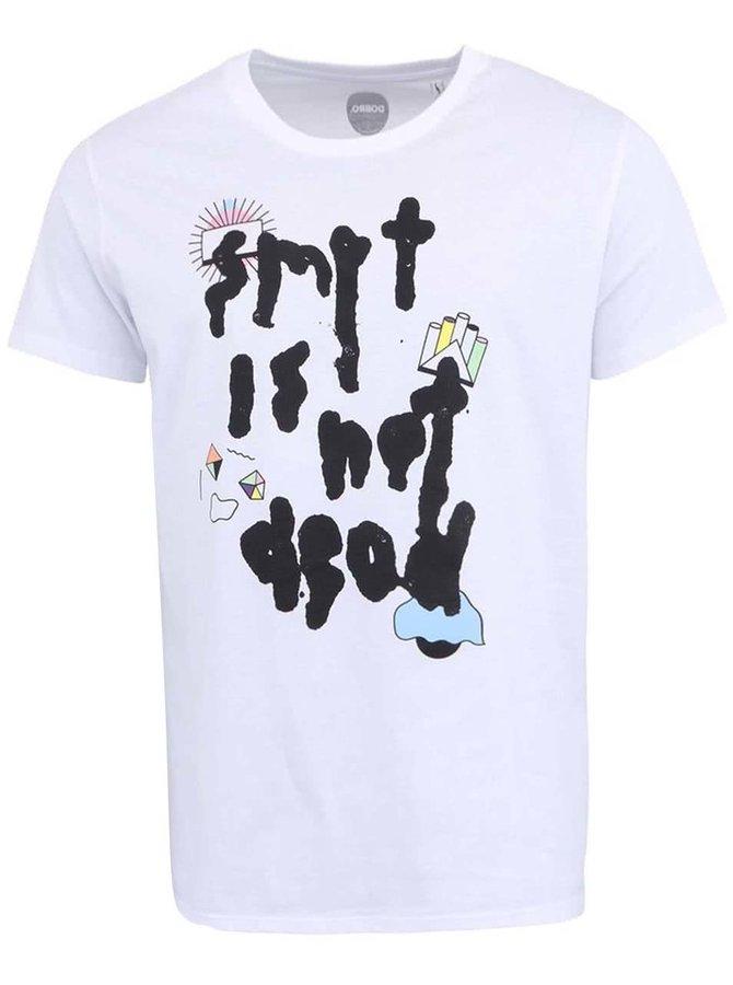 """""""Dobré"""" biele pánske tričko s potlačou Cesta domů"""