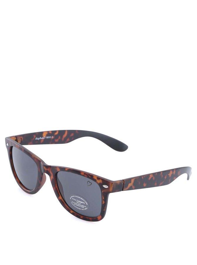 Ochelari de soare negru/maro model carapace de țestoasă Ruby Rocks