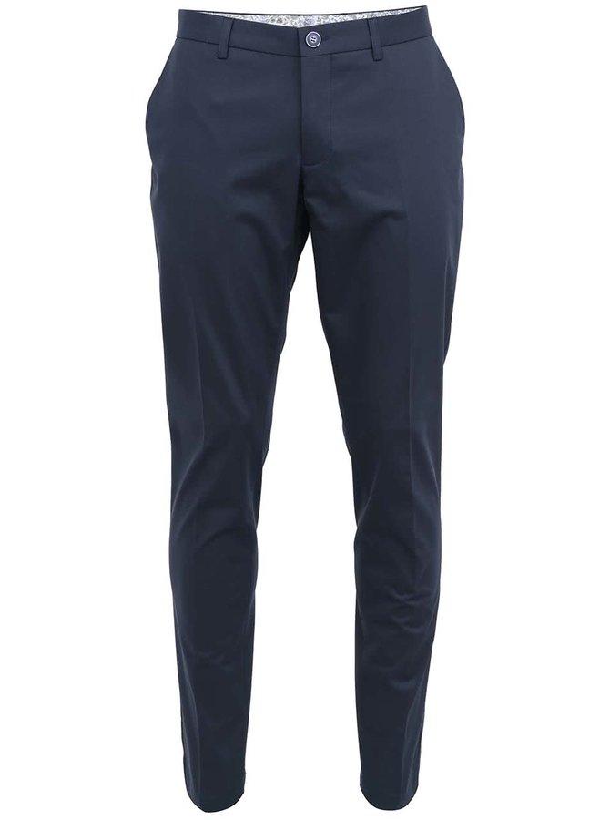 Čierno-modré elegantné chinos nohavice Bertoni