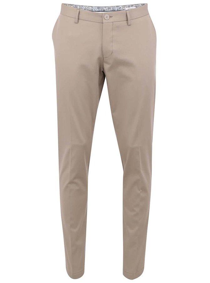Béžové panské chinos nohavice Bertoni