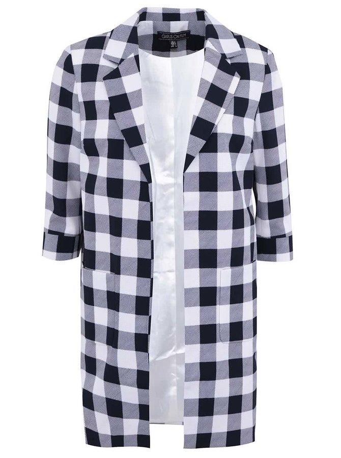 Jachetă în carouri Girls On Film - bleumarin