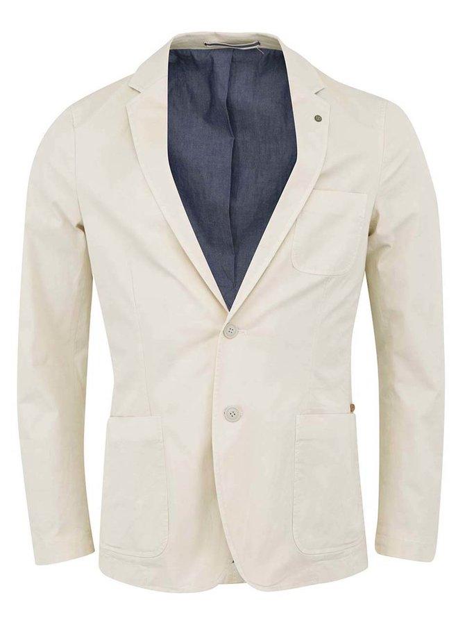 Jachetă bărbătească Bertoni cu buzunare - crem
