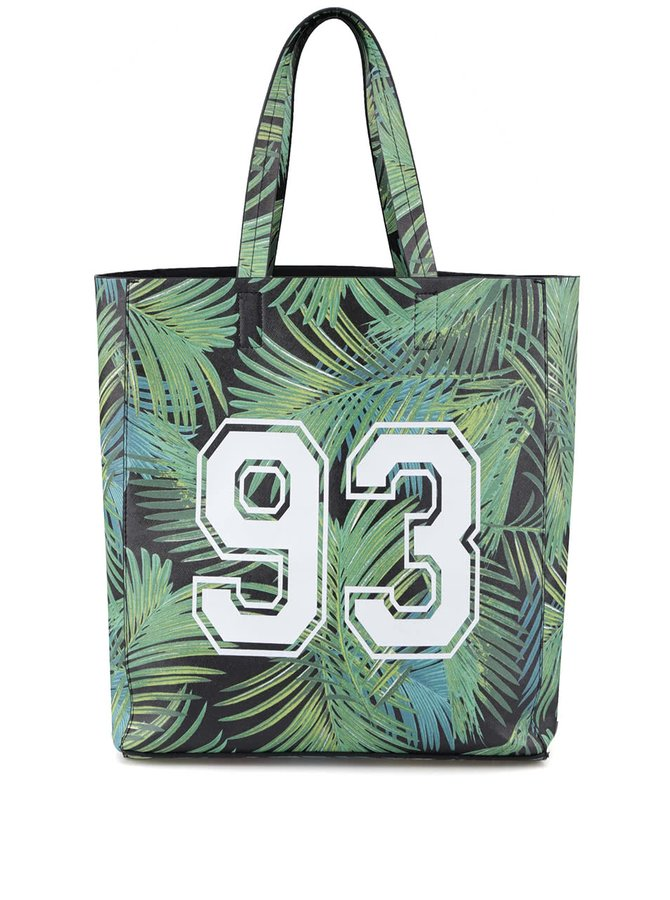 Geantă verde cu imprimeu palmier New Look