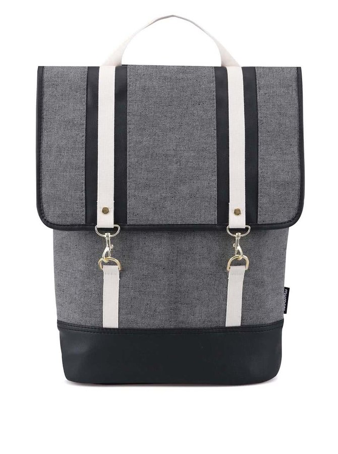 Sivý denimový hranatý batoh ZOOT Lokál