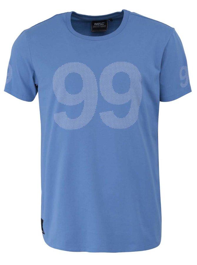Svetlomodré tričko s potlačou WeSC 9 Dot 9