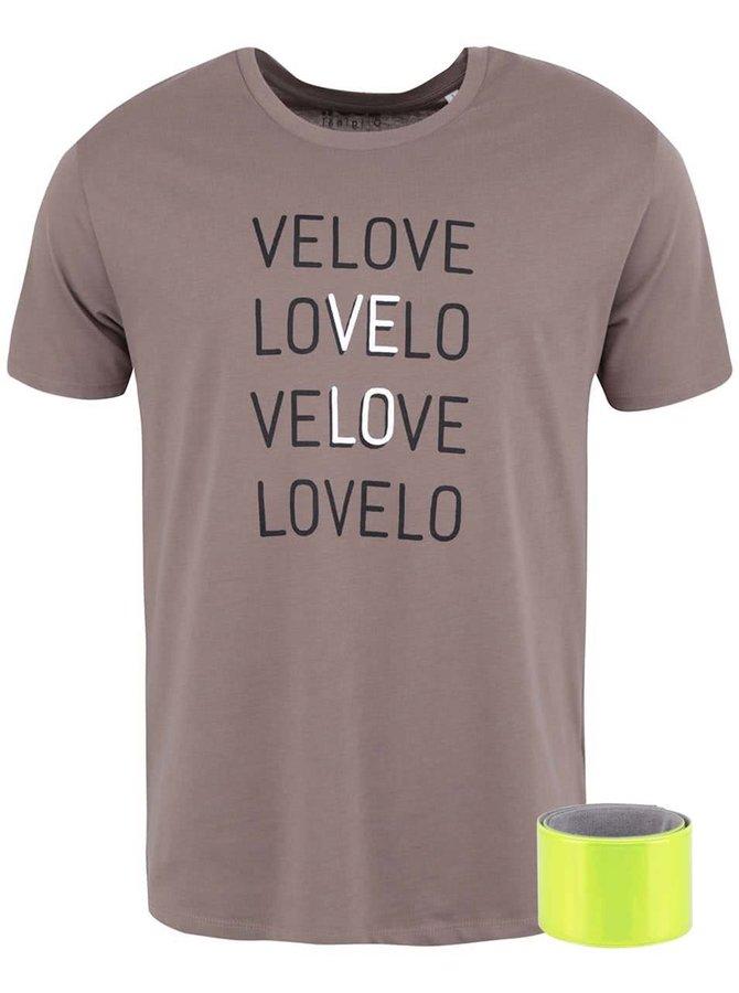 Hnedé pánske tričko ZOOT Originál Velo Love