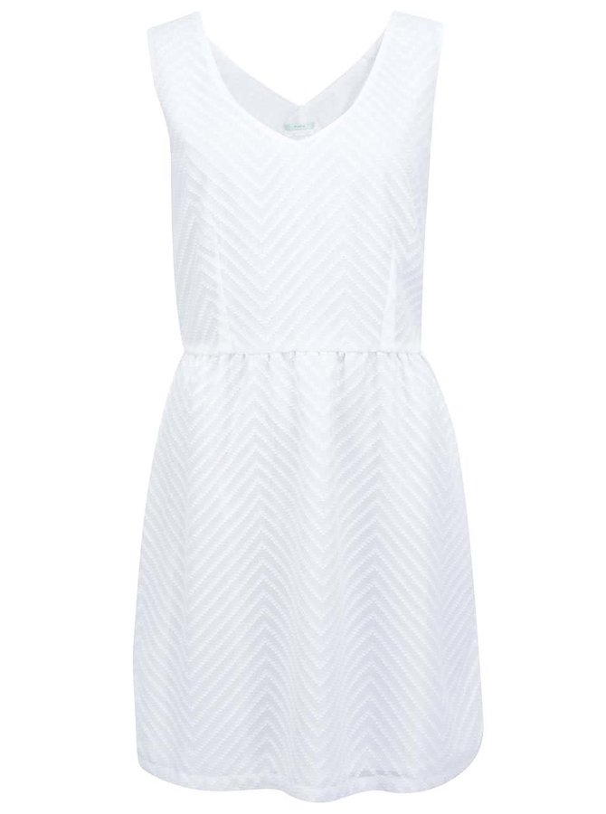 Biele šaty so vzorom Skunkfunk Ugetta
