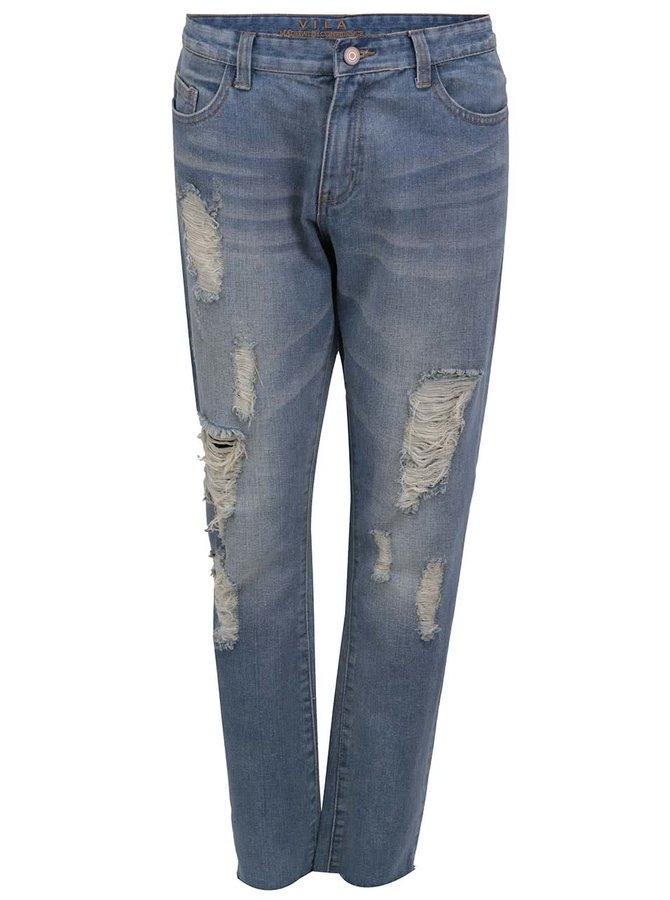 Světle modré boyfriend džíny VILA Jeans