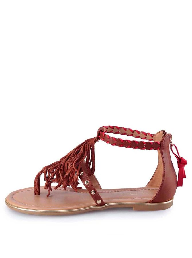 Hnedé sandále so strapcami ALDO Cintello