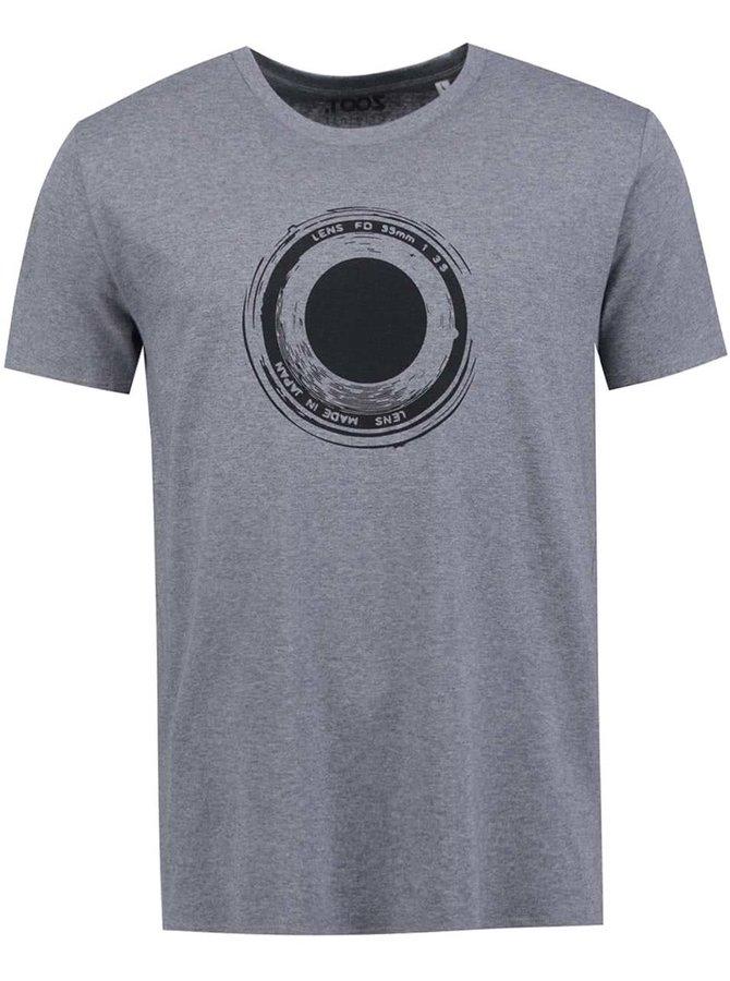 Sivé pánske tričko ZOOT Originál Objektiv