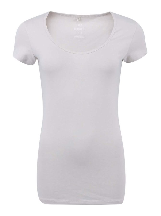 Krémové tričko s kulatým výstřihem ONLY Live Love