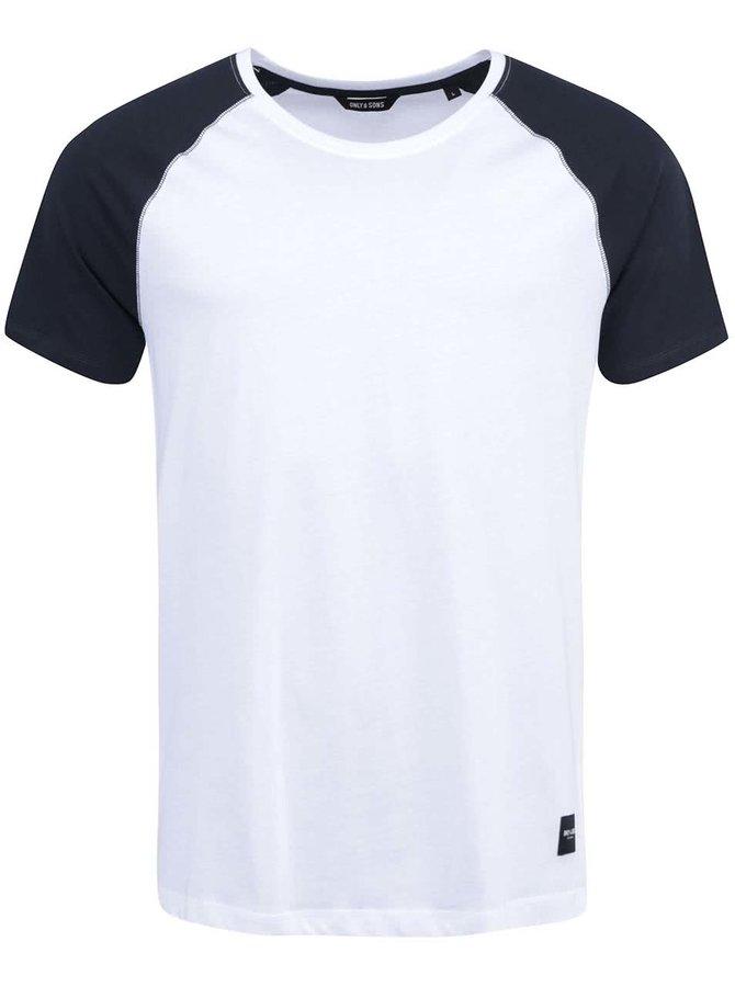 Čierno-biele tričko ONLY & SONS Trisdan
