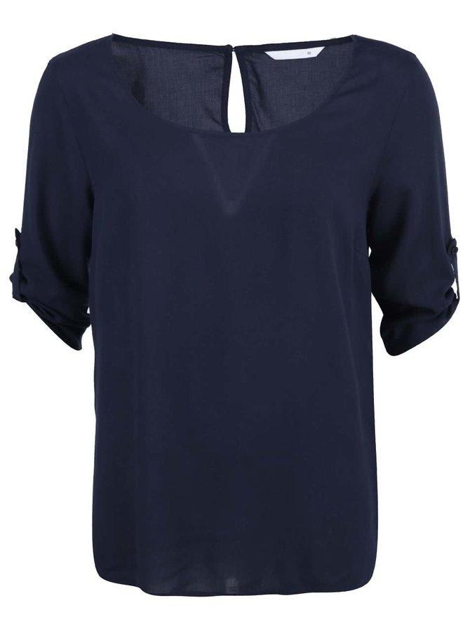 Tmavomodré voľnejšie tričko s 3/4 rukávom ONLY Geggo