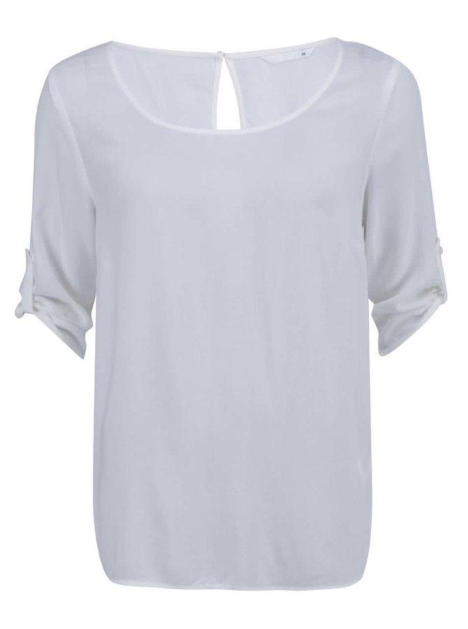 Krémové voľnejšie tričko s 3/4 rukávom ONLY Geggo