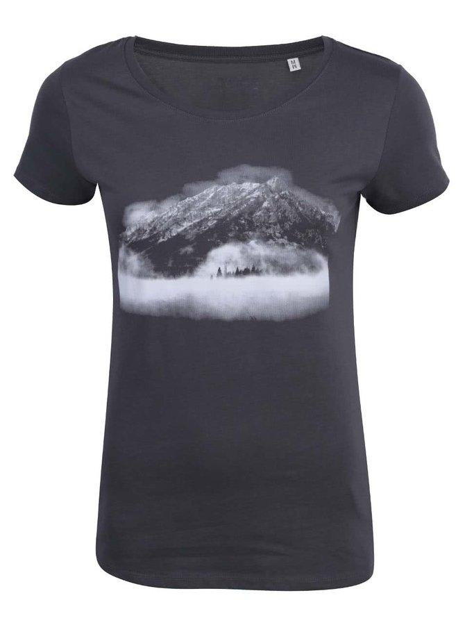 Tmavě šedé dámské tričko ZOOT Hora