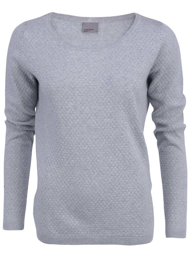 Světle šedý vzorovaný svetr Vero Moda Care