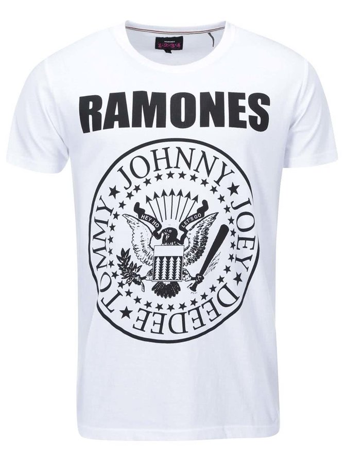 Bílé triko s potiskem orla Shine Original