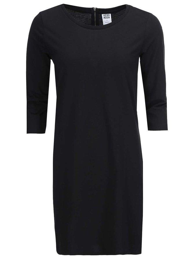 Rochie neagră cu mâneci trei sferturi Vero Moda Sky