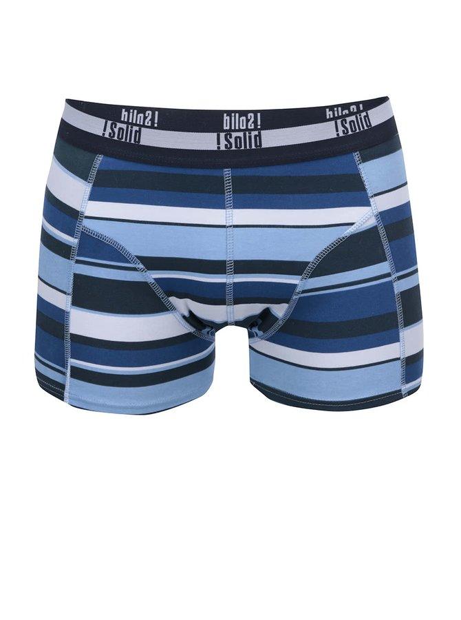 Bielo-modré pruhované boxerky !Solid Orlando