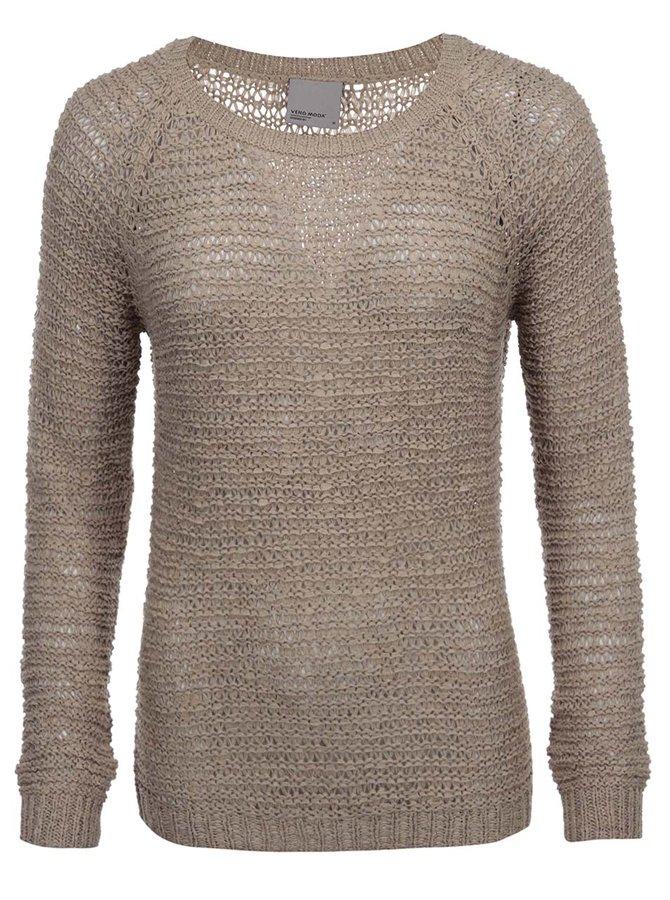 Béžový sveter Vero Moda Verla