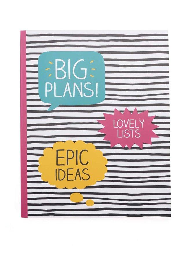 Barevný pruhovaný zápisník Happy Jackson Big Plans