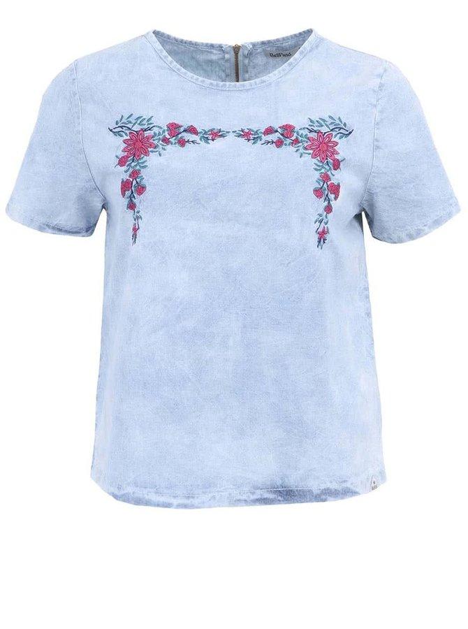 Bluză din denim de damă Bellfield Mary - albastru deschis