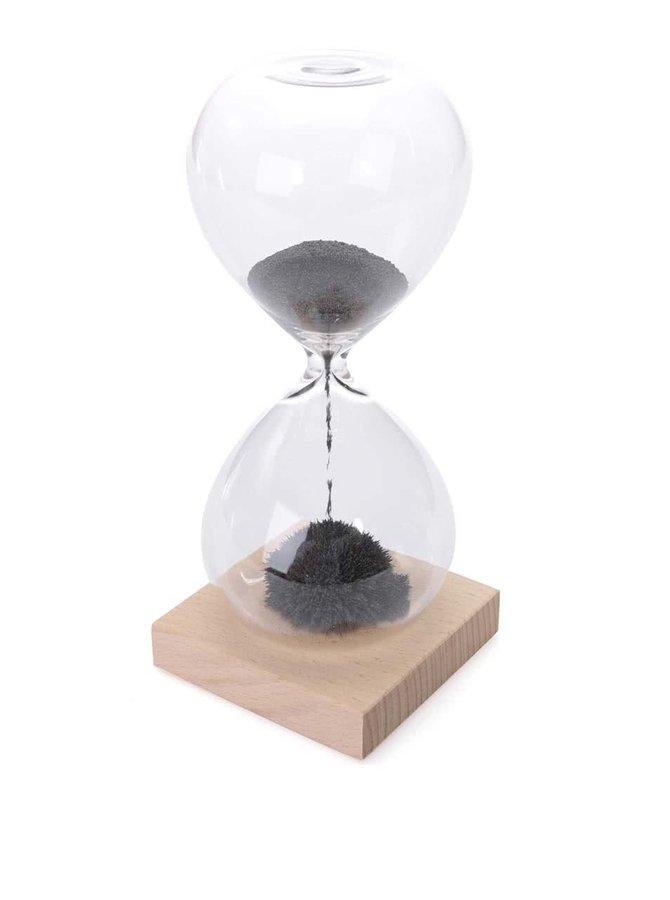 Magnetické presýpacie hodiny s dreveným podstavcom Kikkerland