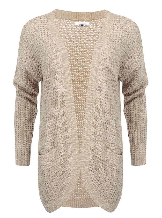 Cardigan tricotat ONLY Emma - bej